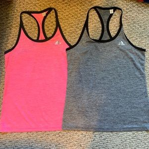 Two Adidas Active Tanks